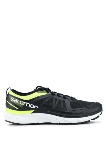 Salomon black and yellow Sonic Ra Max Shoes 44709SH1BE89B5GS_1