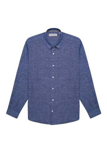 Gieves & Hawkes blue PATTERNED CASUAL SHIRT BFE86AAC4BC4A5GS_1
