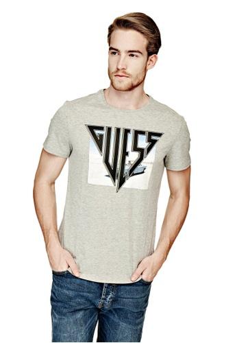 Guess 灰色 Guess Logo 印花T恤 BBA84AA8C495B4GS_1