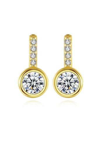 SUNRAIS gold High quality Silver S925 gold simple design earrings 9D5CBAC6261DECGS_1