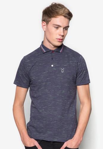 條紋邊飾混色POLO 衫, 服飾, Poesprit 香港lo衫