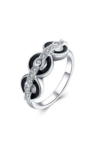 Tiaria white Tiaria Gold Plated Ring Casual Party SPCR848-8--K16 BFA01AC3A24C1AGS_1