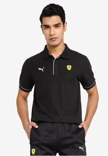 PUMA black Scuderia Ferrari Race Men's Polo Shirt EBA20AA98AE274GS_1