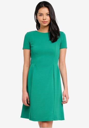 Dorothy Perkins green Emerald Green Fit And Flare Dress 816DDAA3EF2483GS_1