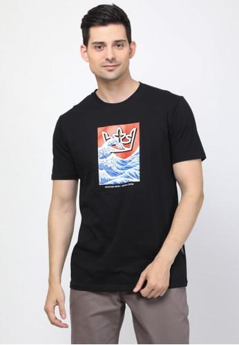 17seven Original black Tshirt 0043-BLUEWAVE-MU BB0A3AA57CB0AAGS_1