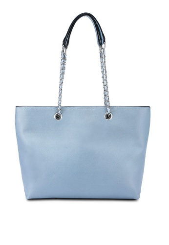 Dorothy Perkins blue Blue Chain Handle Shopper CFCF7AC9A6EE52GS_1