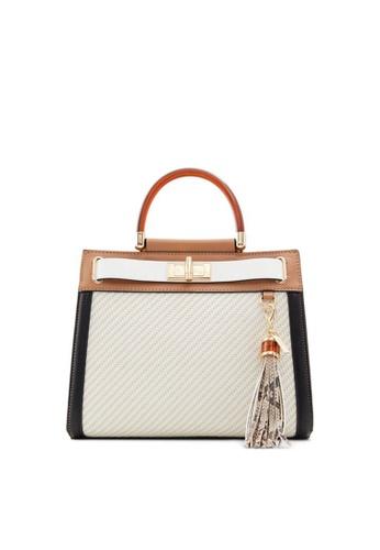 ALDO white and multi Dwigolle Top-Handle Bag 1E82CAC393C128GS_1
