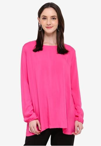 Zariya pink Blouse & Tunics D2914AA7282C14GS_1