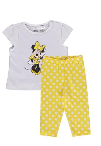 LC Waikiki white Baby Girl's Minnie Mouse Pyjamas 54A03KA15F4287GS_1