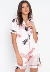 FEMINISM pink Shortsleeve Shorts Set 4937FAA1348FD4GS_1