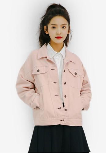 Shopsfashion pink Oversized Denim Jacket 02726AAF962277GS_1