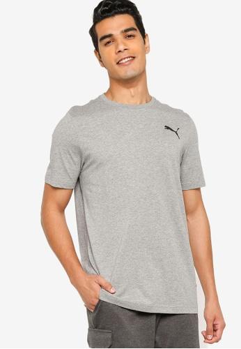 Puma grey Essentials Small Logo Men's Tee 77D98AA4DF0A5FGS_1