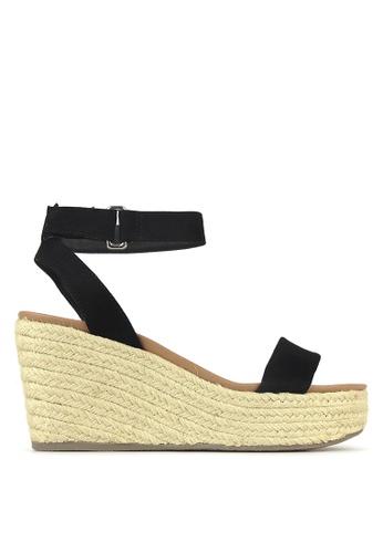 Betts black Kayla Wedge Sandals A2D34SH82F14B4GS_1