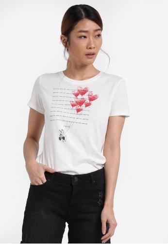 ESPRIT white Short Sleeve T-Shirt ES374AA0SPI4MY_1