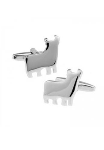 Splice Cufflinks silver Silver Bull Cufflinks SP744AC76ILZSG_1