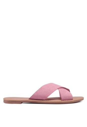 Rubi pink Everyday Scarlett Xover Slides ECB40SH2F3D222GS_1