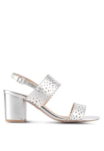 Dorothy Perkins silver Silver 'Sugar' Lazercut Sandals 56B15SH042A037GS_1