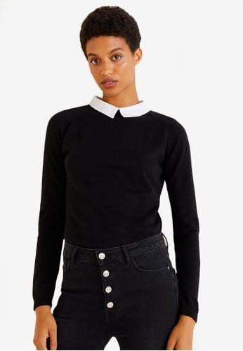 Mango black Classic Collar Sweater 26D91AA76A0F3AGS_1