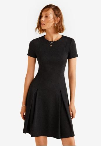 Mango black Wide Pleated Dress 4034DAA1EEA8BCGS_1