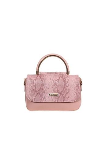 Verchini pink Verchini Angular Flap Metallic Top Handle Bag FE3CCACE749AD4GS_1