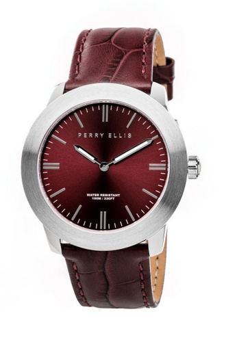 PERRY ELLIS brown Perry Ellis Slim Line Unisex 42mm Quartz Watch 07003-01 B3850ACB5FE386GS_1