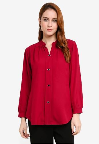 Aqeela Muslimah Wear red Kebaya Top FC429AA4FA2BA7GS_1