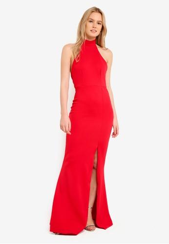 MISSGUIDED 紅色 Choker Maxi Dress Red MI511AA0RK9HMY_1