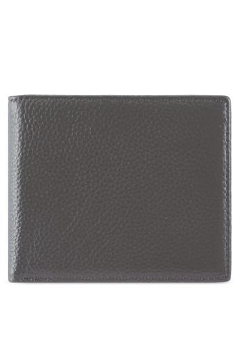 ZALORA grey Pebble Leather Bifold Wallet 3A33BZZ9C31774GS_1