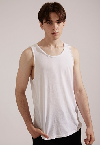 Life8 white Casual Cooling Breathable Sleeveless Tanks Top Singlets-03854-White LI283AA0FG1KSG_1