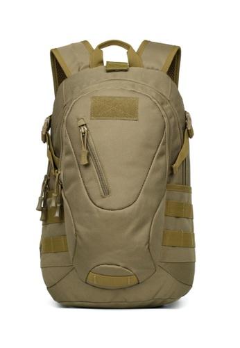 Lara 褐色 男士戶外運動防水大容量透氣背包 - 棕色 62A02AC99A49FFGS_1
