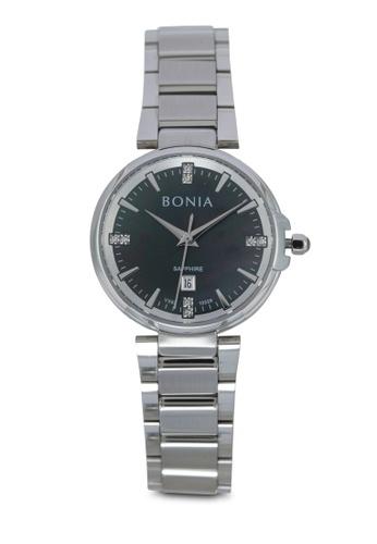 BONIA silver Bonia BNB10329-2332 Silver/Black Stainless Steel Watch BO777AC0SE14MY_1