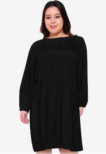 Only CARMAKOMA black Plus Size Carplano Dress D0E47AADA97EB8GS_1