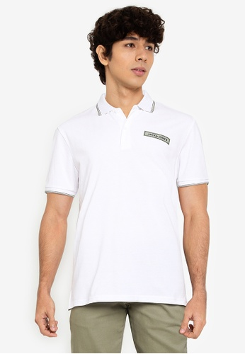 Jack & Jones white Londons Short Sleeves Polo Shirt 2C9FDAA97A567FGS_1