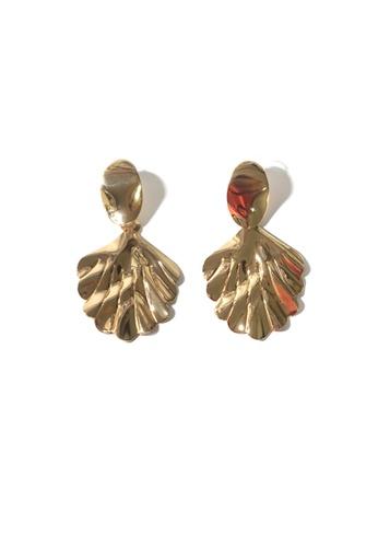 FAWNXFERN gold Jyla Leaf Earrings in Gold 51147AC21DB96DGS_1