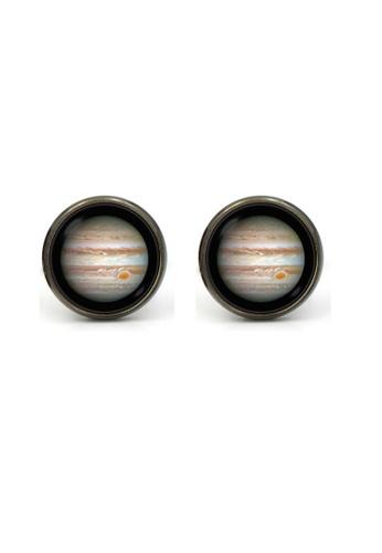 Kings Collection Black Jupiter Cufflinks (KC10196) F8482ACD6398B2GS_1