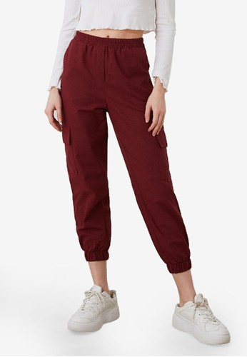 Trendyol red Cargo Pocket Trousers 46D8AAAE4BFFA0GS_1