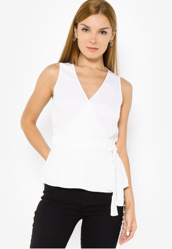 Banana Republic white Sleeveless Tie Wrap Top C3BB9AAB246D22GS_1