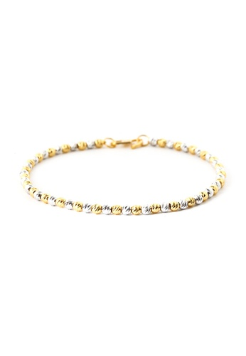 TOMEI gold TOMEI Spherical Jollity with Pizzazz Bracelet, Yellow Gold 916 (BB832-2C)18CM 3D5A3AC054122EGS_1