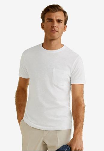 8f07e28d Buy MANGO Man Pocket Cotton T-Shirt Online | ZALORA Malaysia