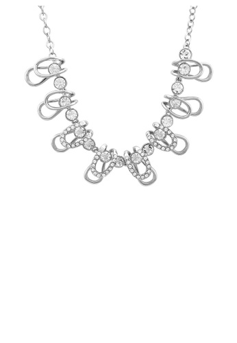 Glamorousky silver Stylish Necklace with Silver Austrian Element Crystals 8FF93AC39A5479GS_1