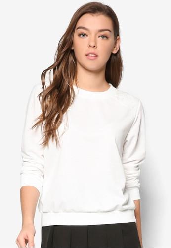 Kimmie 蕾絲拼肩長袖衫, 服飾京站 esprit, 外套