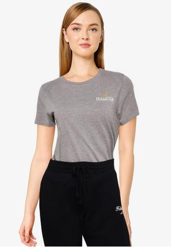 Hollister grey Foil T-Shirt D08A5AA2B6BD88GS_1