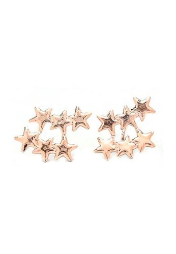 Jewelplace gold Multi Stars Bangkok  Stud Earrings JE882AC0JFCEPH_1