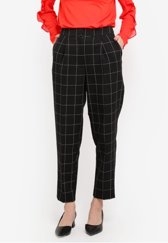WAREHOUSE multi Windowpane Peg Trousers 77D78AA4F345ECGS_1