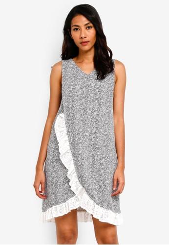 UniqTee white Lace Hem Nightdress 657A6AAC3D937BGS_1
