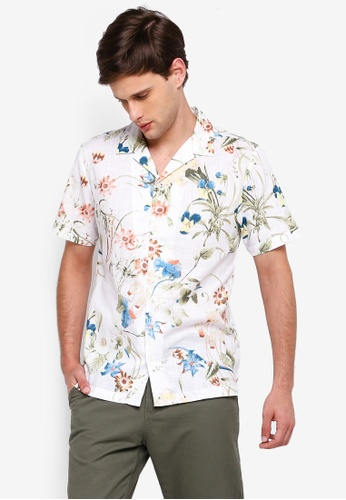 River Island 白色 花卉襯衫 50F72AAD54BFD2GS_1