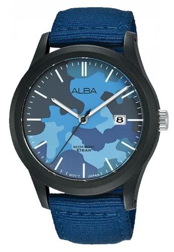 Alba blue Jam Tangan Pria Alba Original Garansi Resmi AS9K35 AS9K35X1 Strap Dark Blue Nylon Dark Blue Camouflage Dial blue A032FACB397F72GS_1