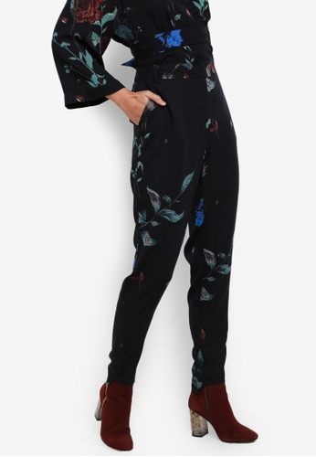 Selected Femme blue and multi Maluna Pants SE157AA0S5QZMY_1