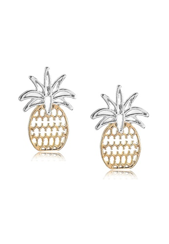 Kings Collection gold Gold Pineapple Earrings (KJEA20001) 9E44AAC740A8BDGS_1