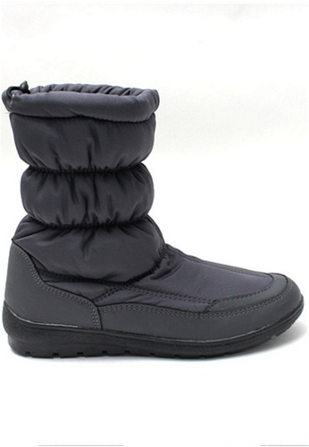 Crystal Korea Fashion grey Korean Made Winter Warm Waterproof Boots With Snow Boots CR681SH2VS0OHK_1